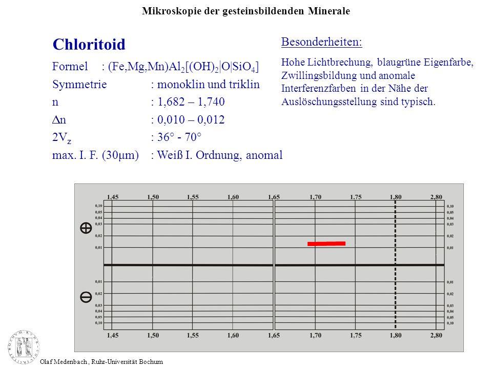 Chloritoid Besonderheiten: Formel : (Fe,Mg,Mn)Al2[(OH)2|O|SiO4]